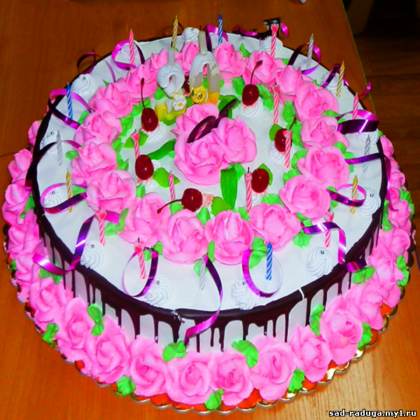 Тортики юбилейные и детские фото